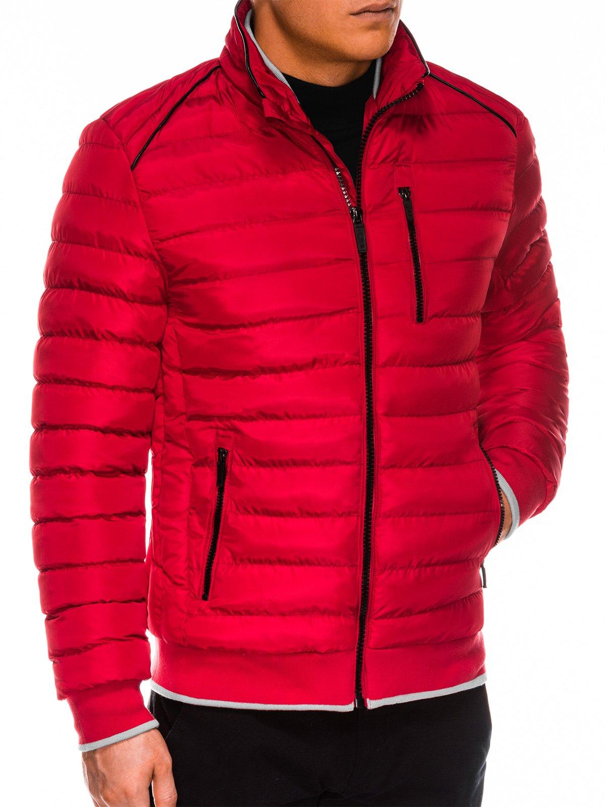 Férfi téli dzseki kapucni nélkül Beck piros
