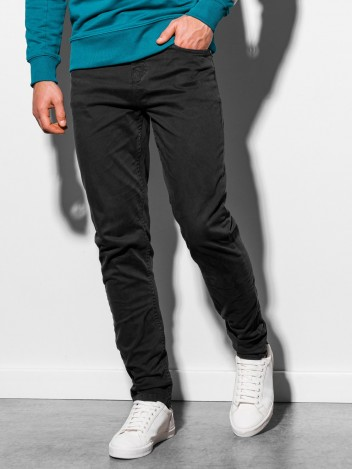 Ombre Clothing Férfi chinos nadrág Benedykt fekete