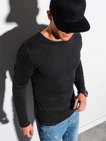 Ombre Clothing Férfi szvetter Ulf fekete