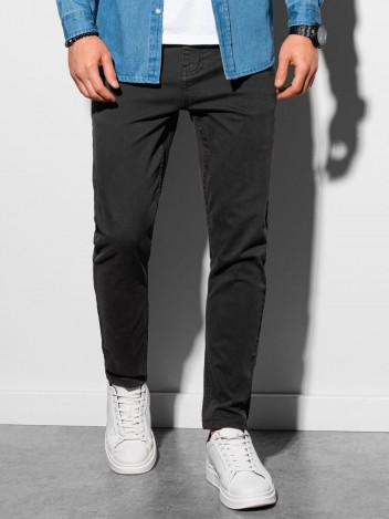 Ombre Clothing Férfi chinos nadrág Edit fekete