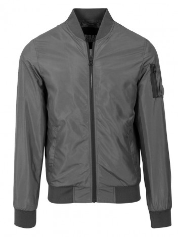 Mens Bomber Jacket Lebrone Dark Grey S