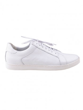Mens Leather Trainers Shady White size 41
