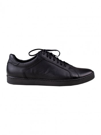 Mens Leather Trainers Brock Black size 41