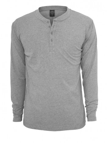 Mens Henley Long T-shirt Cuerpo Grey S